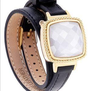 Ela Smart Jewelry Double Leather Wrap Bracelet in